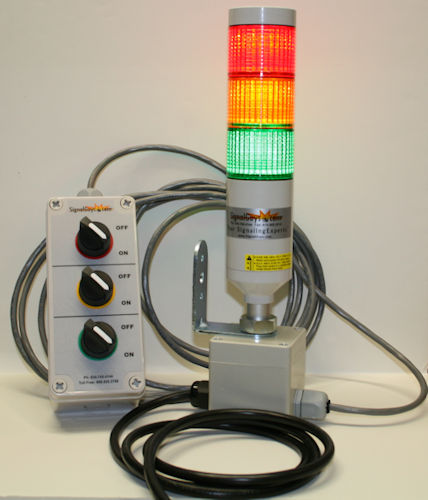 LED Andon with Remote Cabled Switches and Power Cord PTE